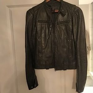 Like new Rudsak leather motto jacket